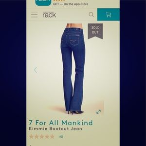 Seven 7 for all Mankind Kimmie bootcut